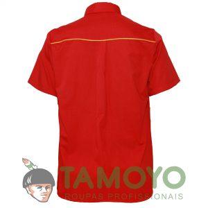 Camisa Manga Curta Masculina - Bandeira Branca | Roupas Tamoyo