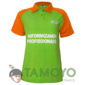 Camisa Polo Feminina - Bandeira Branca | Roupas Tamoyo