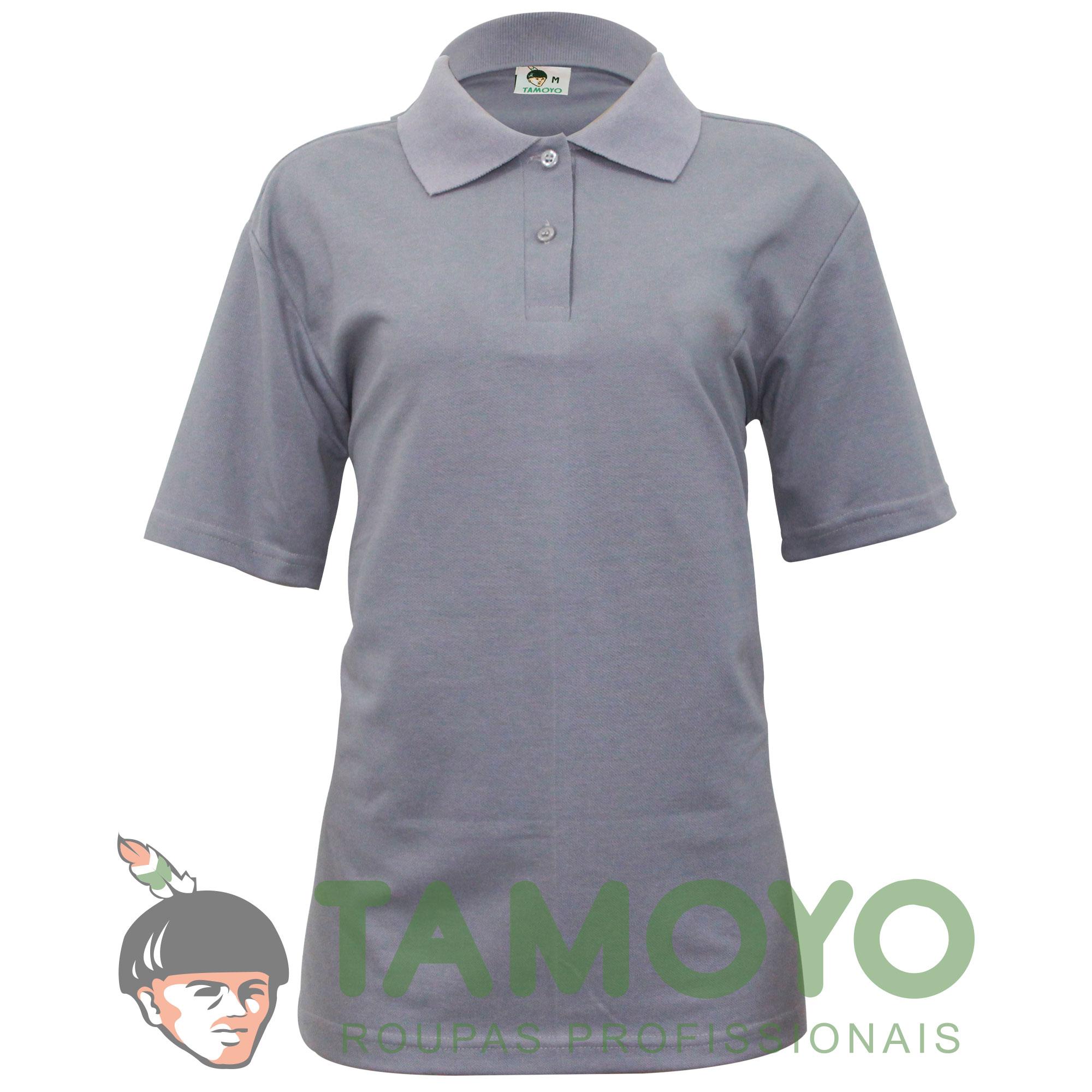 Camiseta Polo Manga Curta Feminina