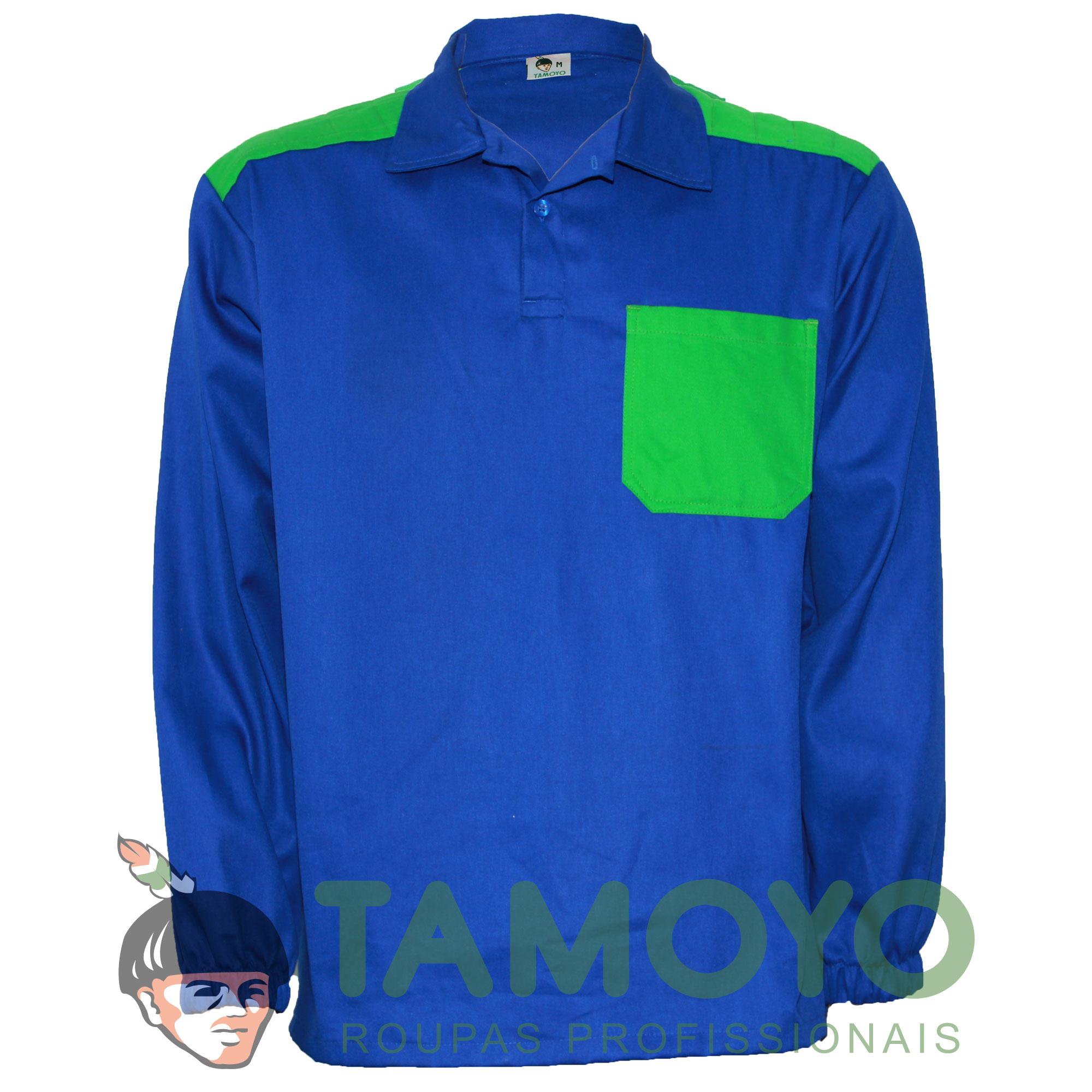 Camisa Gola Polo Manga Longa com Reforço
